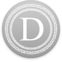 Logo for the cryptocurrency Denarius (D)