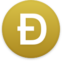 Logo for the cryptocurrency Dogecoin (DOGE)