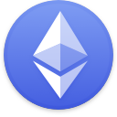 Logo for the cryptocurrency Ethereum (ETH)