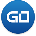 Logo for the cryptocurrency GoByte (GBX)