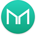 Logo for the cryptocurrency Maker (MKR)