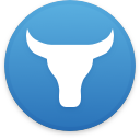 Logo for the cryptocurrency OrcaX (OX)