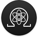 Logo for the cryptocurrency Quantum Resistant Ledger (QRL)