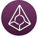 Logo for the cryptocurrency Augur (REP)