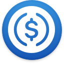 Logo for the cryptocurrency USD Coin (USDC)