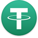 Logo for the cryptocurrency Tether (USDT)