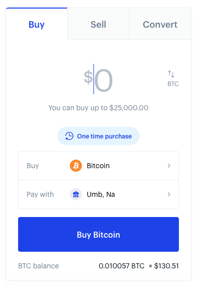 Coinbase Buy Crypto with USD